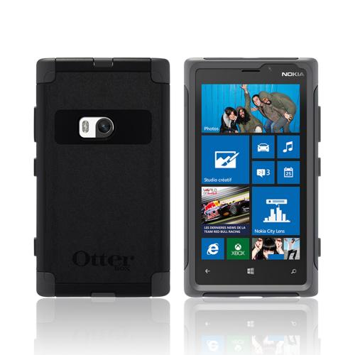Otterbox Black/ Gray Commuter Series Hard Case Over Silicone w/ Screen Protector for Nokia Lumia 920