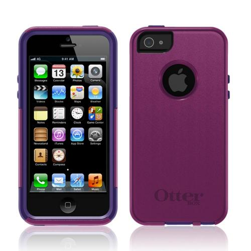 Otterbox Boom Magenta/ Purple Commuter Series Hard Case Over Silicone w/ Screen Protector for Apple iPhone 5