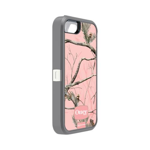 Otterbox Pink Camouflage Defender Series Silicone Over Hard Case w/ Holster for iPhone 5