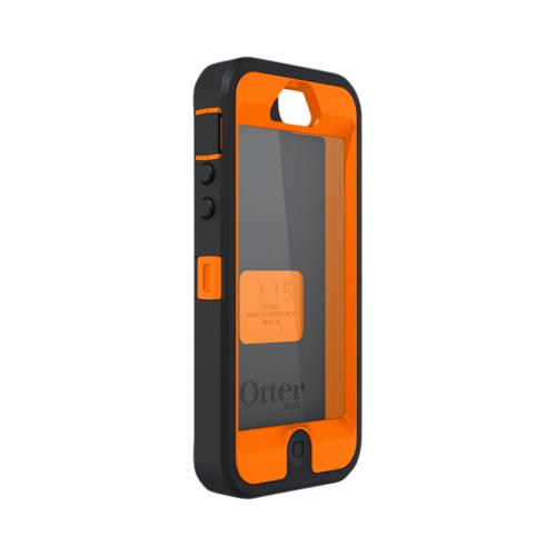 Otterbox Blazed Tree Camouflage w/ Orange Defender Series Silicone Over Hard Case w/ Holster for iPhone 5