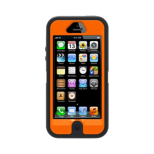 Otterbox MAX 4HD Blazed Black/ Orange Real Tree Camo Defender Series Silicone Over Hard Case w/ Holster for iPhone 5