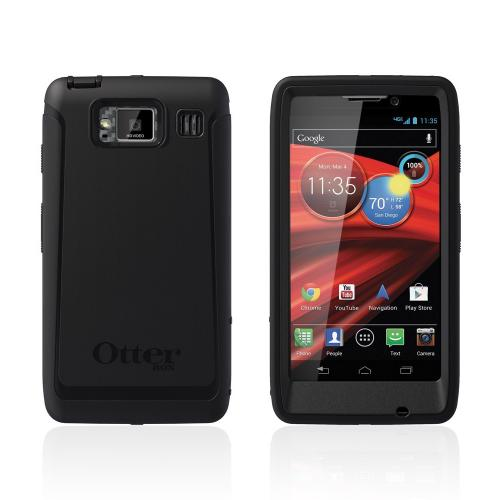 Otterbox Black Defender Series TPU Over Hard Case w/ Holster & Built-In Screen Protector for Motorola Droid RAZR MAXX HD - 77-22902