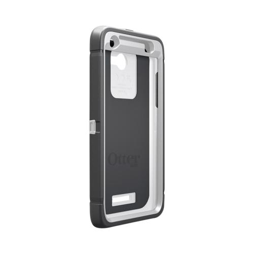 Otterbox Gray/ White Defender Series Silicone Over Hard Case w/ Holster & Screen Protector for HTC Droid DNA