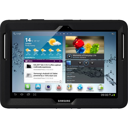 Otterbox Black Defender Series TPU Over Hard Case w/ Built-In Screen Protector for Samsung Galaxy Tab 2 10.1