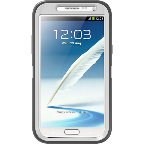 Otterbox Glacier (Gray/White) Defender Series TPU Over Hard Case w/ Holster & Built-In Screen Protector for Samsung Galaxy Note 2