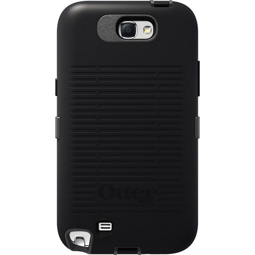 Otterbox Knight (Black/Gray) Defender Series TPU Over Hard Case w/ Holster & Built-In Screen Protector for Samsung Galaxy Note 2