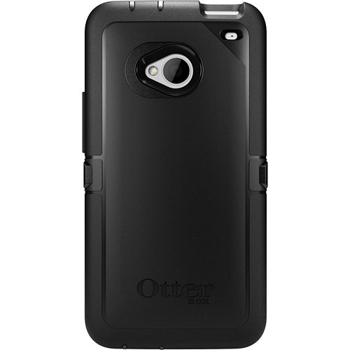 Otterbox Black Defender Series TPU Over Hard Case w/ Holster & Built-In Screen Protector for HTC One