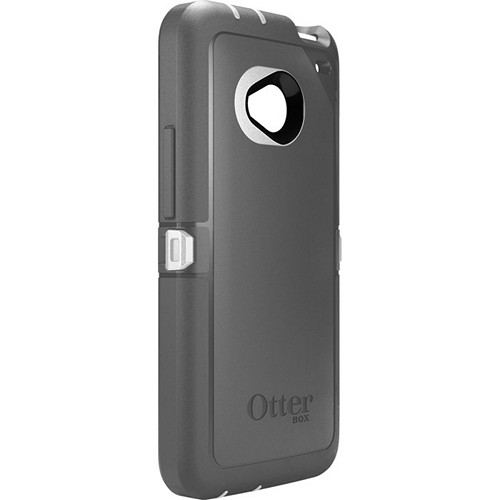 Otterbox Glacier (Gray/ White) Defender Series TPU Over Hard Case w/ Holster & Built-In Screen Protector for HTC One