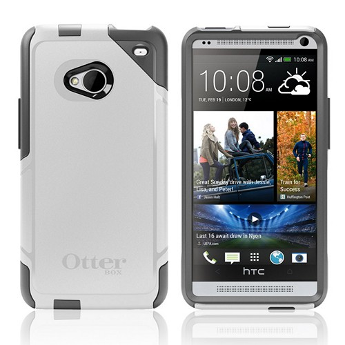 Otterbox Glacier (Gray/White) Commuter Series Hard Case over Silicone w/ Screen Protector for HTC One