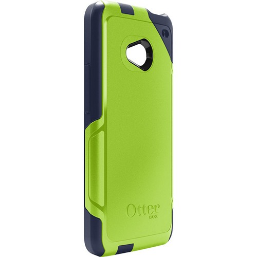 Otterbox Punked (Navy Blue/Lime Green) Commuter Series Hard Case over Silicone w/ Screen Protector for HTC One