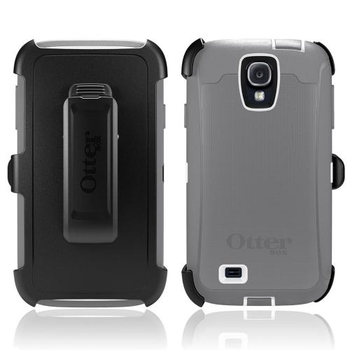 Otterbox Glacier (Gray/White) Defender Series TPU Over Hard Case w/ Holster & Built-In Screen Protector for Samsung Galaxy S4
