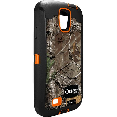 Otterbox RealTree (Orange/ Black) Defender Series TPU Over Hard Case w/ Holster & Built-In Screen Protector for Samsung Galaxy S4