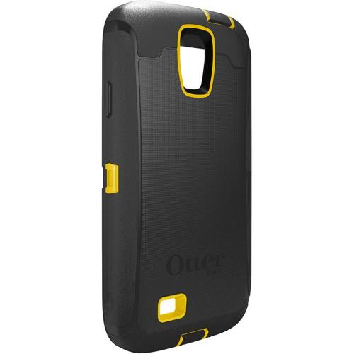 Otterbox Hornet (Black/Yellow) Defender Series TPU Over Hard Case w/ Holster & Built-In Screen Protector for Samsung Galaxy S4
