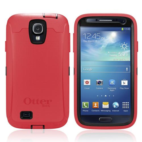 Otterbox Raspberry Hot Pink Defender Series TPU Over Hard Case w/ Holster & Built-In Screen Protector for Samsung Galaxy S4
