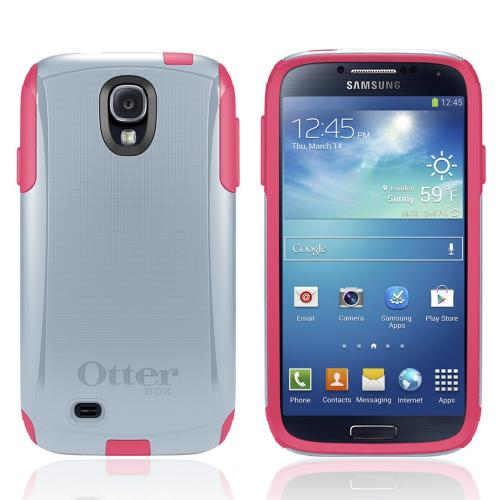 Otterbox Wild Orchid (Light Gray/ Hot Pink) Commuter Series Hard Case over Silicone w/ Screen Protector for Samsung Galaxy S4