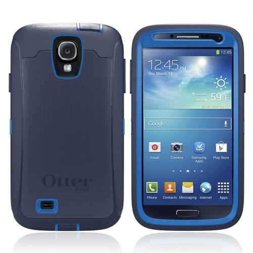Otterbox Surf (Dark Blue/ Blue) Defender Series TPU Over Hard Case w/ Holster & Built-In Screen Protector for Samsung Galaxy S4