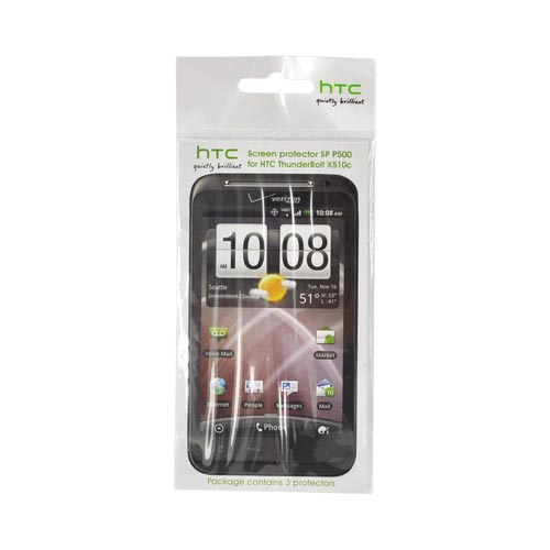 Original HTC Thunderbolt Screen Protector (3 Pack), 66H00078-00M - Clear