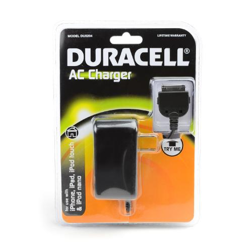 Duracell Black Universal Apple iPhone (Excluding Lightning) Travel/ Home Charger - DU5204
