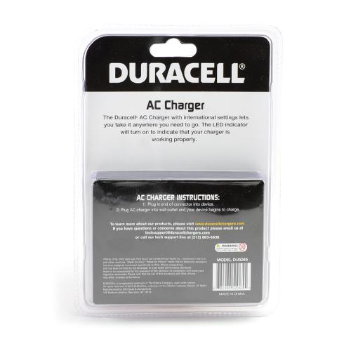 Duracell Black Apple iPhone 5/5C/5S Lightning Compatible 1A Travel/ Home Charger (MFI Certified) - DU5265