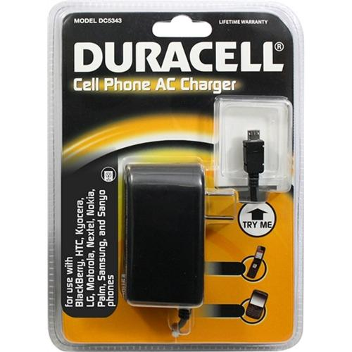 Duracell Black Micro-USB Travel/ Home Charger - DC5343