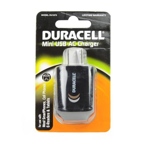 Duracell Black Universal USB Travel/ Home Charger Adapter (1A) - DU1673