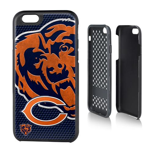 NFL Licensed Chicago Bears Protective Rugged Hard Cover on TPU Hybrid Case for Apple iPhone 6 (4.7 inches)