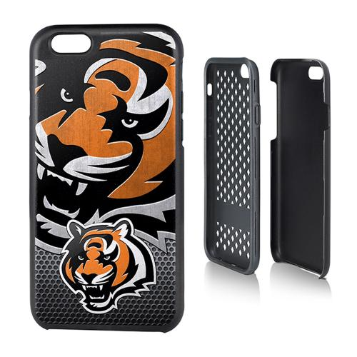 NFL Licensed Cincinnati Bengals Protective Rugged Hard Cover on TPU Hybrid Case for Apple iPhone 6