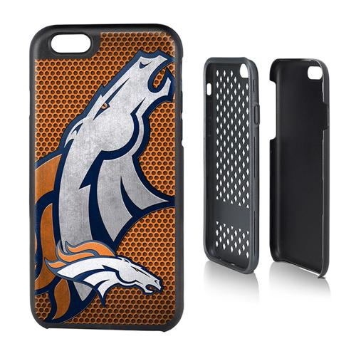 NFL Licensed Denver Broncos Protective Rugged Hard Cover on TPU Hybrid Case for Apple iPhone 6