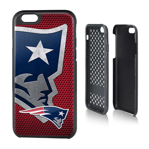 NFL Licensed New England Patriots Protective Rugged Hard Cover on TPU Hybrid Case for Apple iPhone 6