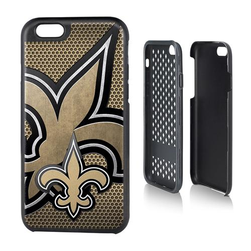 NFL Licensed New Orlean Saints Protective Rugged Hard Cover on TPU Hybrid Case for Apple iPhone 6