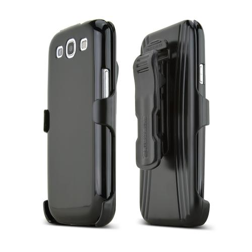 Samsung Galaxy S3 Hard Case and Holster Combo w/ Screen Protector, Belt Clip & Stand - Black