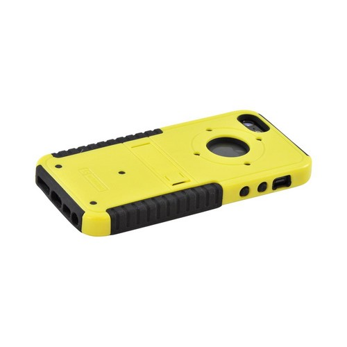 Apple iPhone SE / 5 / 5S  Case,  [Yellow/ Black]  Tri Shield Hard Case Over Silicone w/ Stand & Screen Protector