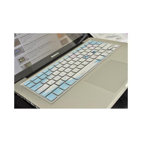 OEM XSKN Apple MacBook Silicone Keyboard Cover - Baby Blue/ White Cat