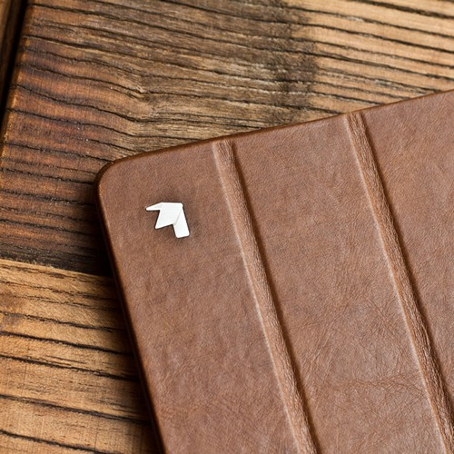 Jisoncase Brown Vintage Style Handmade Genuine Leather Smart Cover Case for iPad 2/3/4