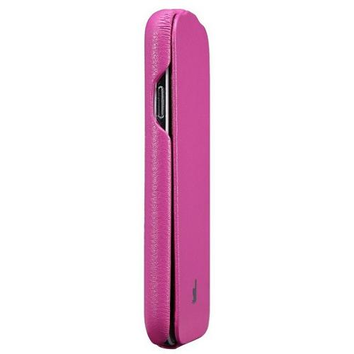 Hot Pink JisonCase Handmade Fashion Flip Vegan Friendly Leather Case for Samsung Galaxy S4