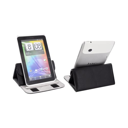 "Original Kroo 7"" E-Reader Wrapper Case 2-In 1 Sleeve to Stand, 7-FITMWR - Black"