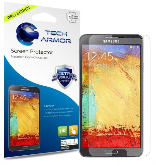 Tech Armor Samsung Galaxy Note 3 High Definition (hd) Clear + Impact Protection Screen Protectors Maximum Clarity And Touchscreen Accuracy [3pack]