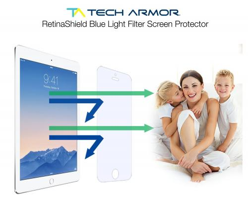 Tech Armor Retinashield Blue Light Filter Screen Protector For Ipad Air 2 - With Lifetime Replacement Warranty [1-pack] -