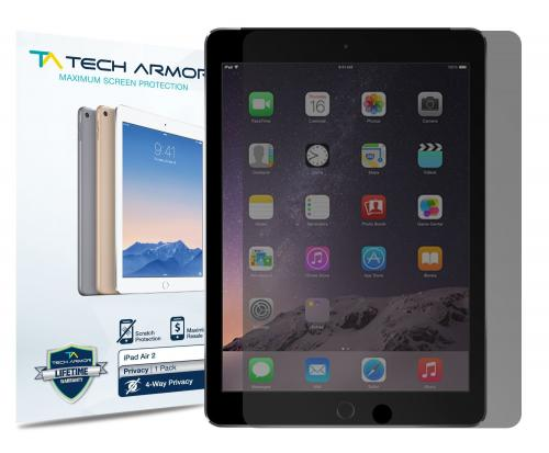 Tech Armor Apple iPad Air 2 (Generation 5 & 6) 4-Way 360 Degree Privacy Screen Protector [1-Pack]