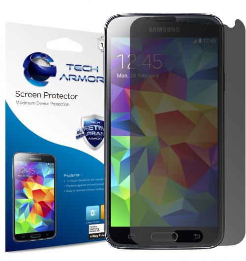 Tech Armor Samsung Galaxy S5 4-Way 360 Degree Privacy Screen Protector -- Hassle-Free [1-Pack]