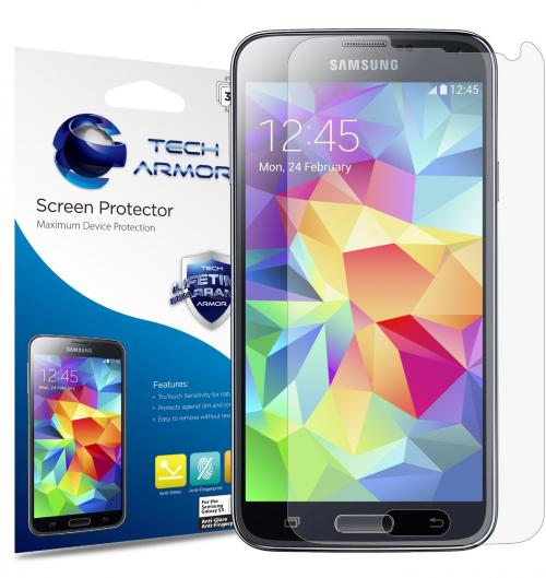 Tech Armor Samsung Galaxy S5 Anti-Glare/Anti-Fingerprint (Matte) Screen Protectors [3-Pack] Lifetime Warranty