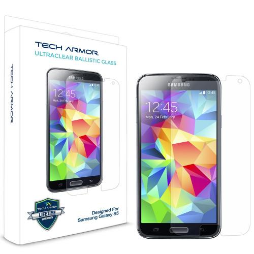 Tech Armor Samsung Galaxy S5 Premium Ballistic Glass Screen Protector - Protect Your Screen From Scratches And Drops - Maximize Your Resale Value