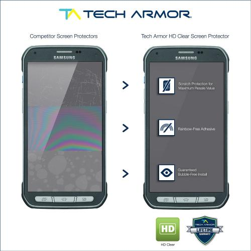 Tech Armor Samsung Galaxy S5 Active Anti-Glare/Anti-Fingerprint (Matte) Screen Protectors [3-Pack]