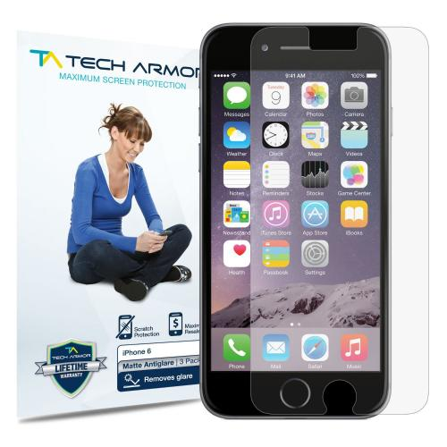 Tech Armor Apple iPhone 6 (4.7 inch ONLY) Anti-Glare/Anti-Fingerprint (Matte) Screen Protectors [3-Pack]
