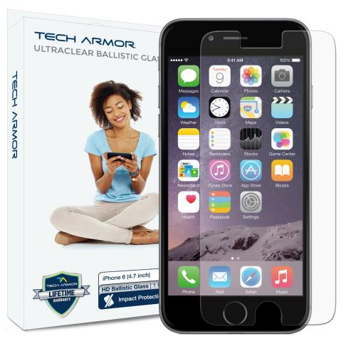 Tech Armor Apple iPhone 6 (4.7 inch ONLY) HD Clear Ballistic Glass Screen Protector