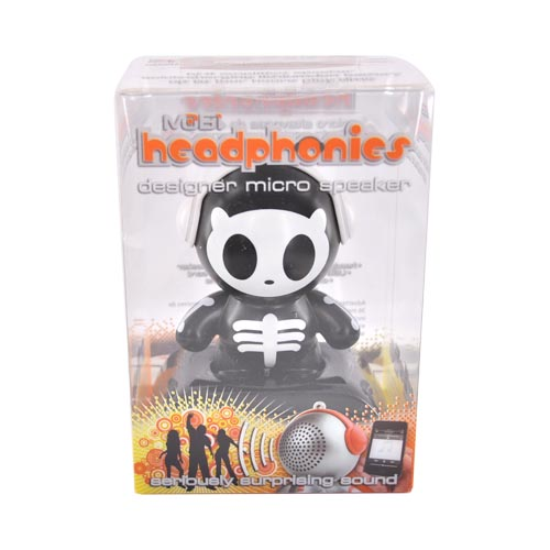 Original Mobi Micro Rechargeable Portable Speaker Headphonies, 70220 - Skully