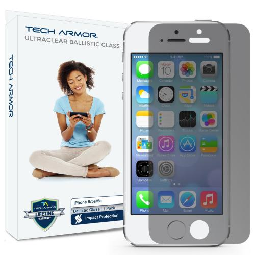 Tech Armor Apple Iphone 5/5c/5s Premium Privacy Ballistic Glass Screen Protector - Keep Your Information Private - [1-pack]
