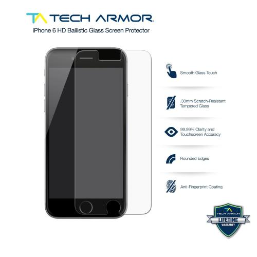 Tech Armor Apple Iphone 6 Premium Anti-glare Ballistic Glass Screen Protector Protect Your Screen From Scratches And Drops Maximize Your Resale Value