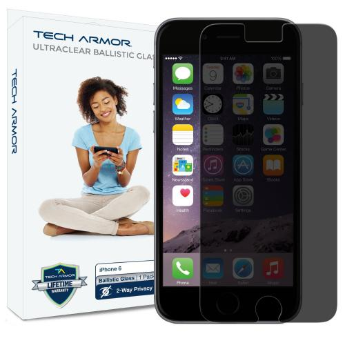 Tech Armor Apple iPhone 6 Premium Privacy Ballistic Glass Screen Protector