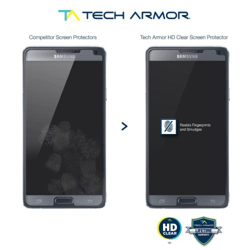 Tech Armor Samsung Galaxy Note 4 High Definition (HD) Clear Screen Protectors [3-Pack]